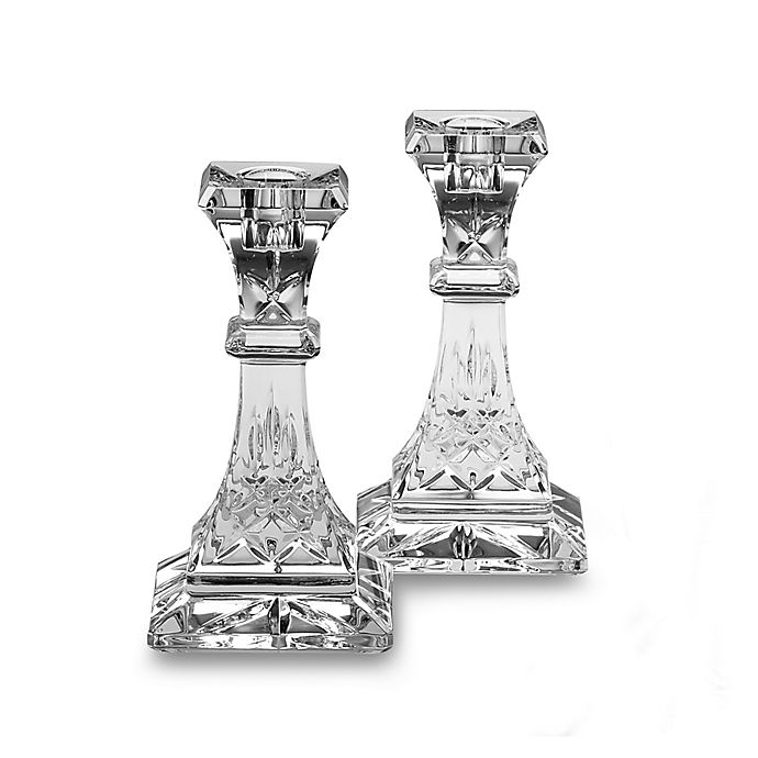 Alternate image 1 for Waterford® Lismore Crystal Candlestick 6-Inch Pair