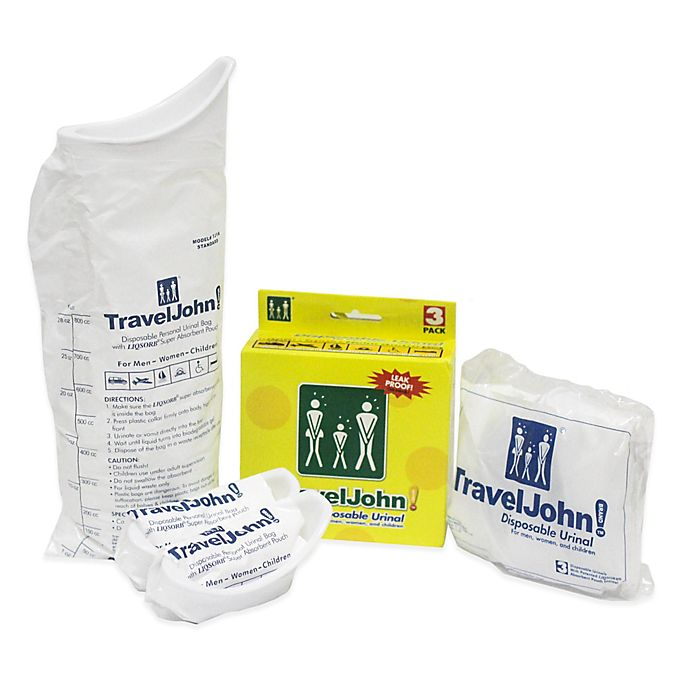Alternate image 1 for TravelJohn!™ Disposable Urinal (Set of 3)