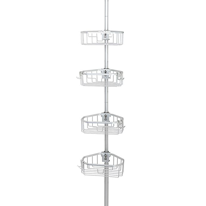 Alternate image 1 for .ORG NeverRust™ Aluminum Tension Pole Caddy