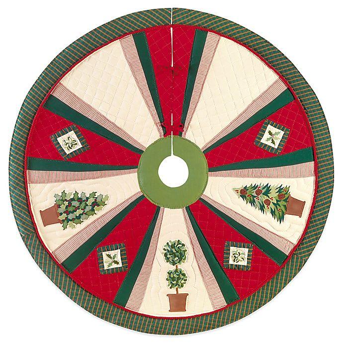 Alternate image 1 for Festive Topiaries 54-Inch Christmas Tree Skirt