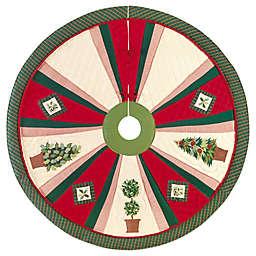 Festive Topiaries 54-Inch Christmas Tree Skirt