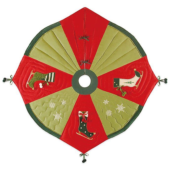 Alternate image 1 for Ice Skate 54-Inch Christmas Tree Skirt