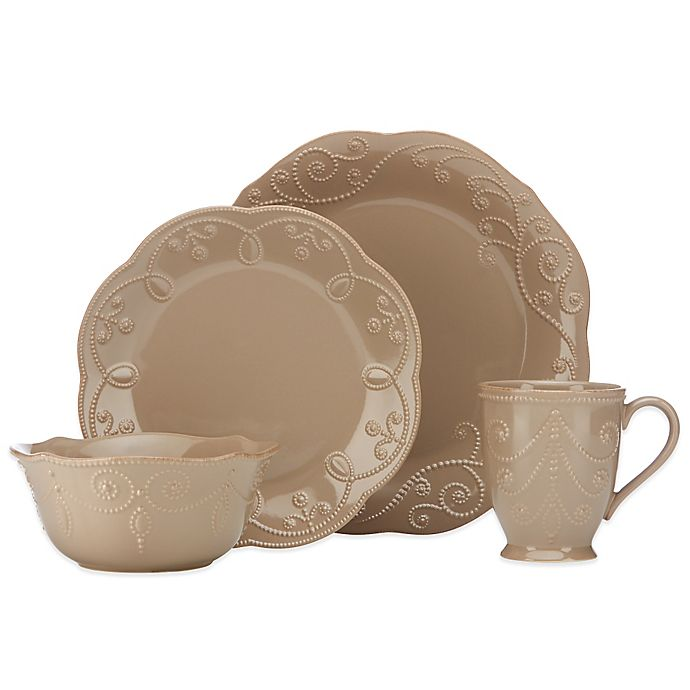Alternate image 1 for Lenox® French Perle 4-Piece Place Setting in Latte