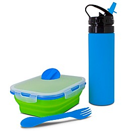 SmartPlanet Kids Collapsible Meal Kit with Water Bottle
