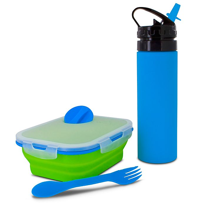 Alternate image 1 for SmartPlanet Kids Collapsible Meal Kit with Water Bottle