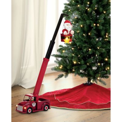 16.5-Inch Animated Cherry Picker Santa | Bed Bath & Beyond