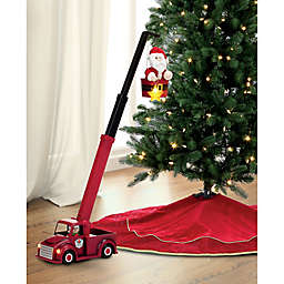 16.5-Inch Animated Cherry Picker Santa