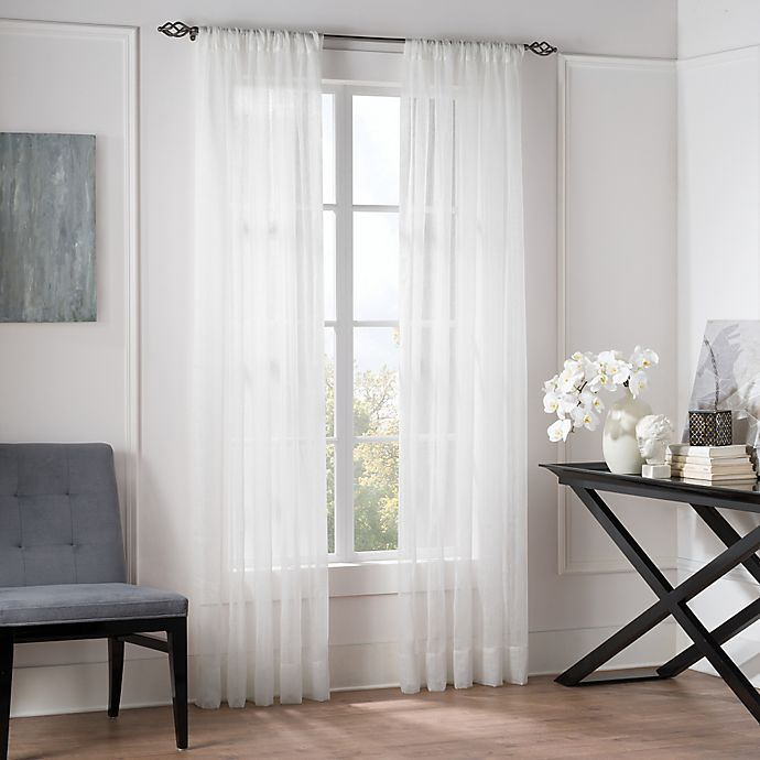 Buy Valeron Natural Sheer 95-Inch Window Curtain Panel In