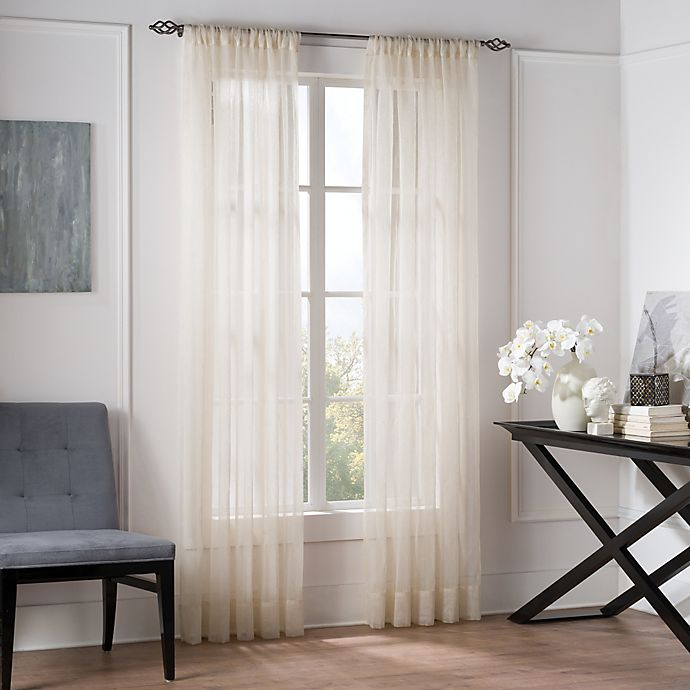 Alternate image 1 for Valeron Natural Sheer 95-Inch Window Curtain Panel in Linen