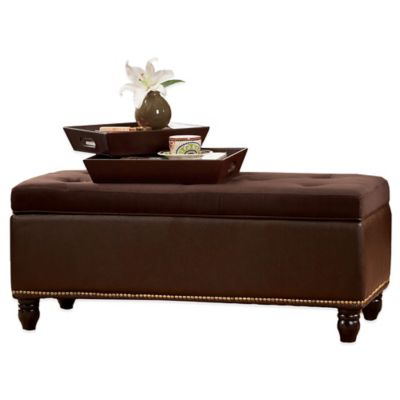 Lafayette Storage Ottoman With Serving Trays Bed Bath