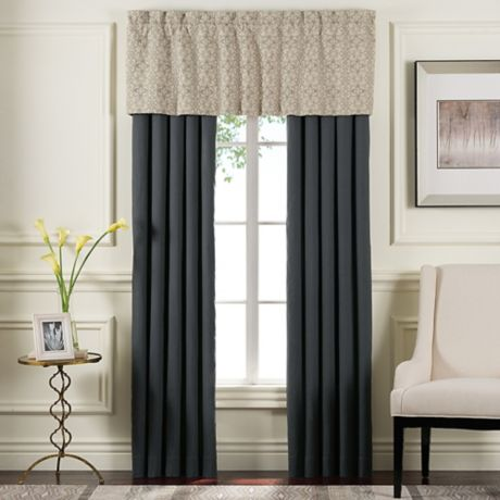 Sonoma Window Curtain Panel Pair And Valance In Grey Bed