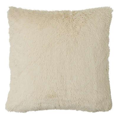 MYOP Polar Fur Square Throw Pillow Cover in Cream