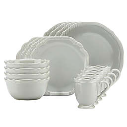 Lenox® French Perle Bead 16-Piece Dinnerware Set in Grey