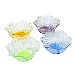 Classic Touch Dessert Bowls in Assorted Colors (Set of 4)