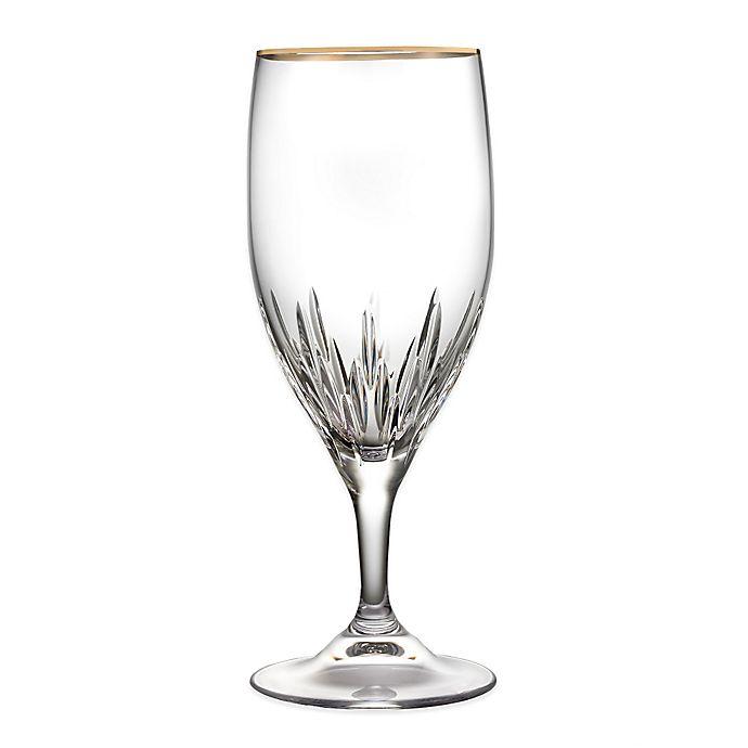 Alternate image 1 for Vera Wang Wedgwood® Duchesse Gold Iced Beverage Glass