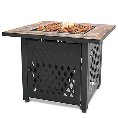 UniFlame® Endless Summer® LP Gas Fire Pit with Slate Tile Mantel