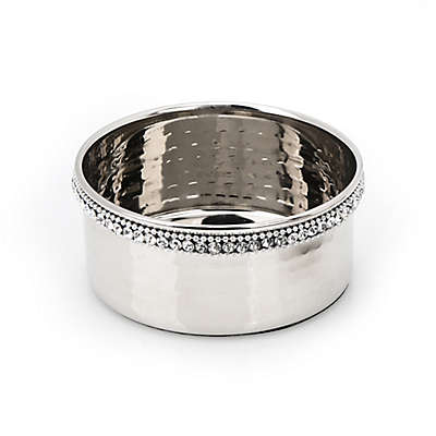 Classic Touch Hammmered Stainless Steel Bottle Coaster