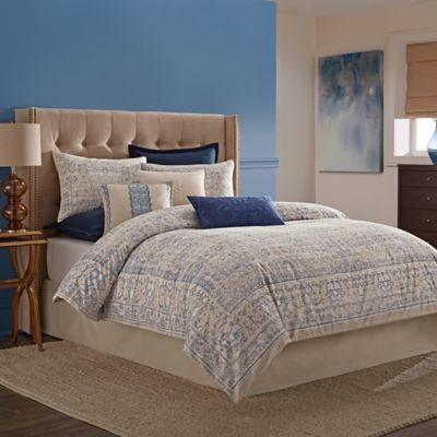 Wamsutta tapestry comforter set in blue bed bath and - Bed bath and beyond bedroom furniture ...