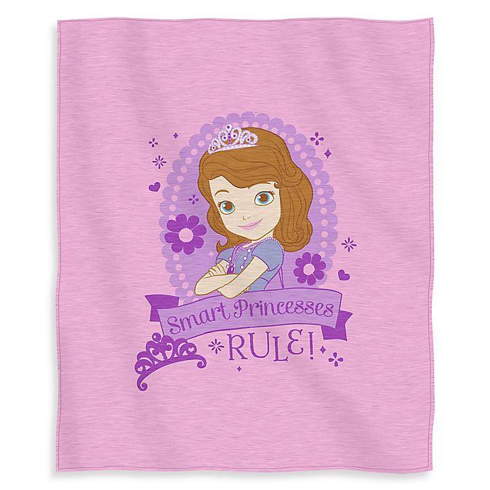 Alternate image 1 for Disney® Sofia Princess in Training Sweatshirt Throw Blanket