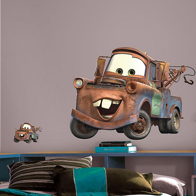 Alternate image 1 for RoomMates Disney® Pixar Cars Mater Peel and Stick Giant Wall Decals