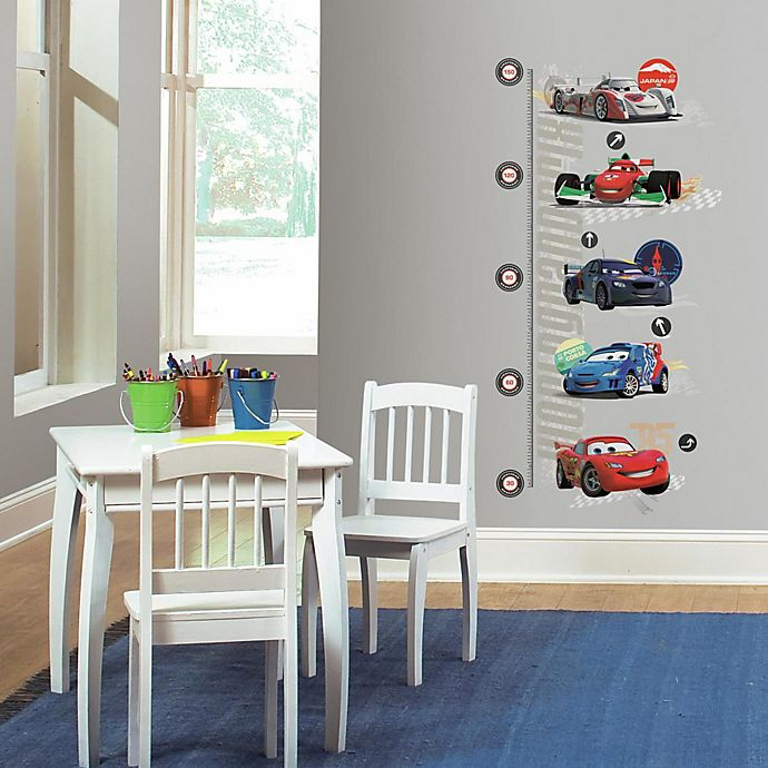 Alternate image 1 for RoomMates Disney® Pixar Cars Peel and Stick Metric Growth Chart Wall Decals