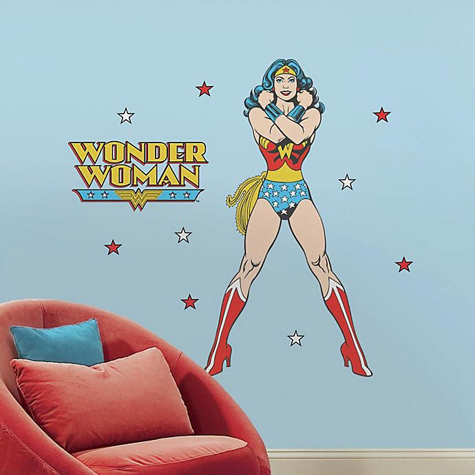 Alternate image 1 for Classic Wonder Woman Peel and Stick Giant Wall Decals