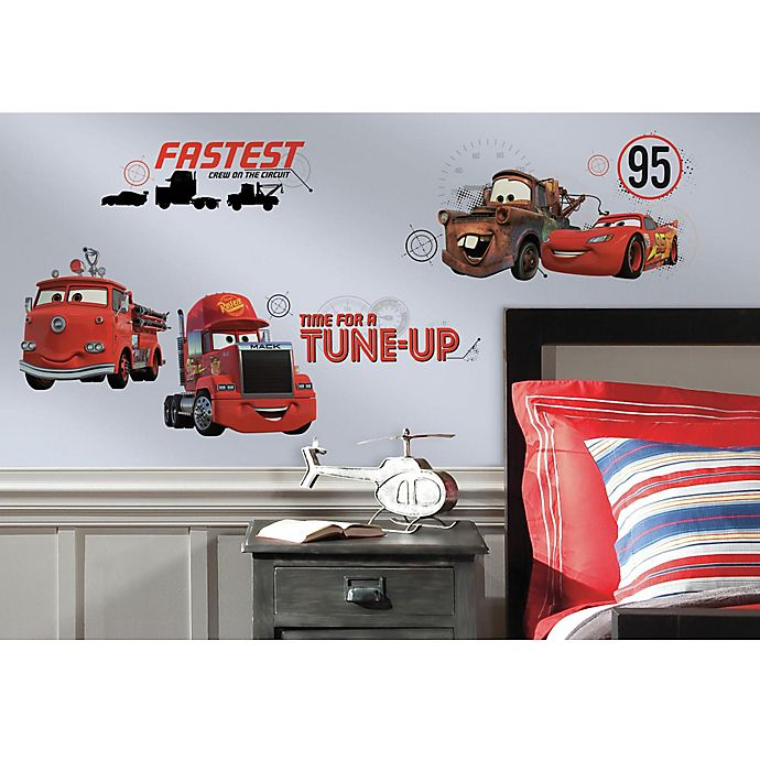 Alternate image 1 for Disney® Cars Friends to the Finish Peel and Stick Wall Decals