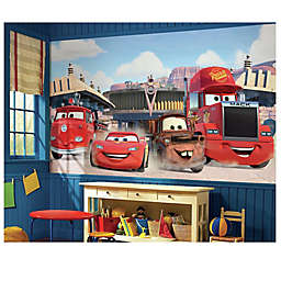 Disney® Cars Chair Rail Prepasted 10.5-Foot x 6-Foot Mural