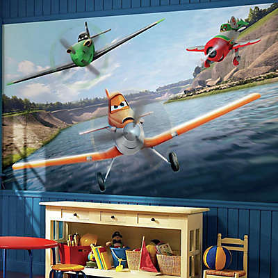 Disney® Planes Chair Rail Prepasted 10.5-Foot x 6-Foot Mural
