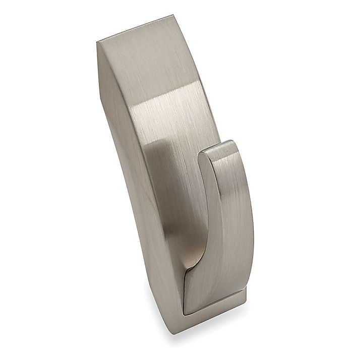 Alternate image 1 for 3M Command™ Medium Wall Hook in Brushed Nickel