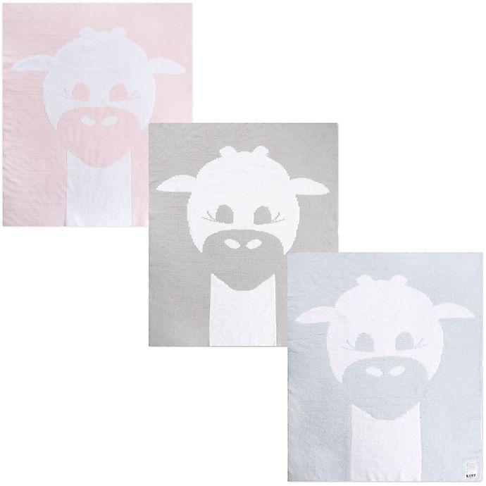 Alternate image 1 for Little Giraffe Cloud Knit Giraffe Logo Blanket
