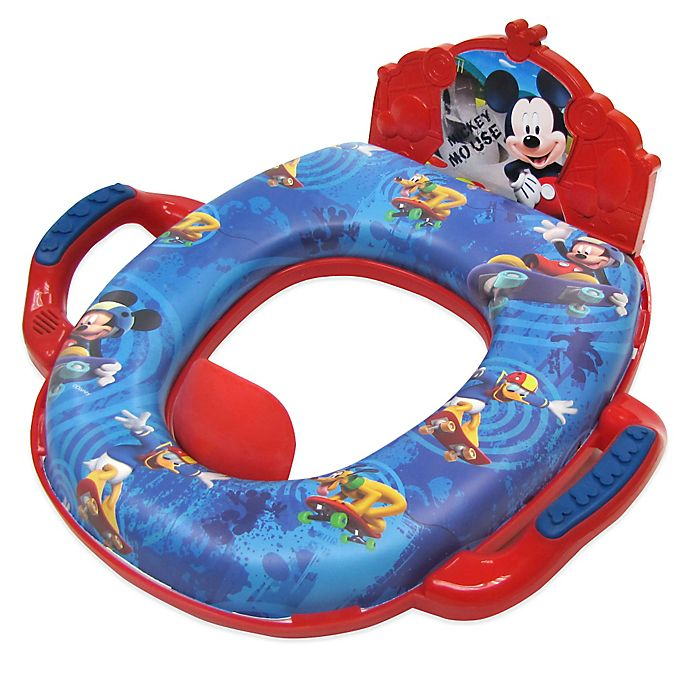 Alternate image 1 for Ginsey Disney® Mickey Mouse Deluxe Soft Potty Trainer with Sound in Blue/Red