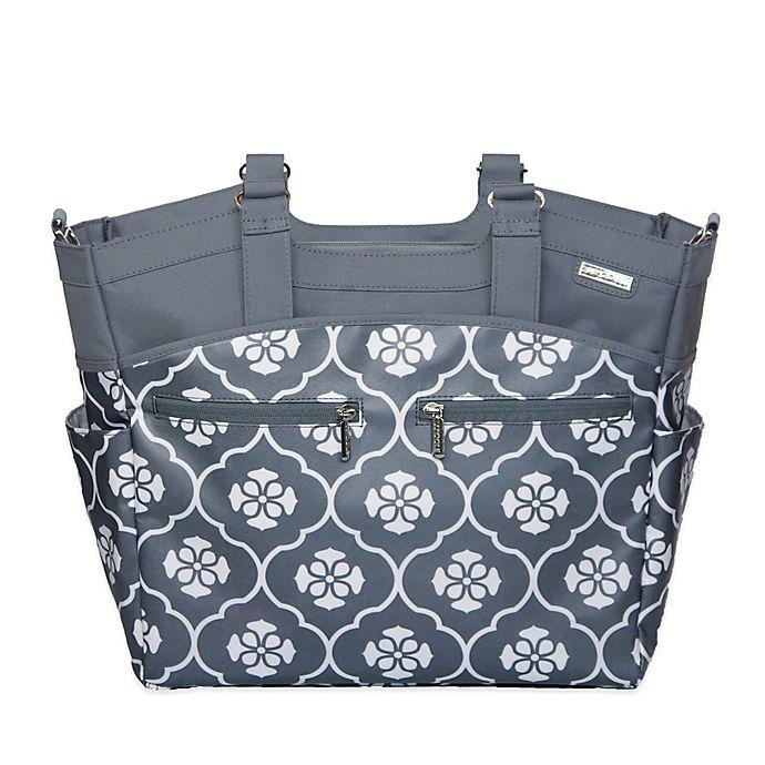 JJ Cole® Camber Diaper Bag in Grey Floret  53ce8c62bc46f
