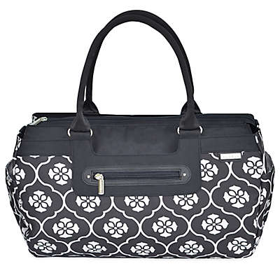 JJ Cole® Parker Weekender Diaper Bag in Black Floret