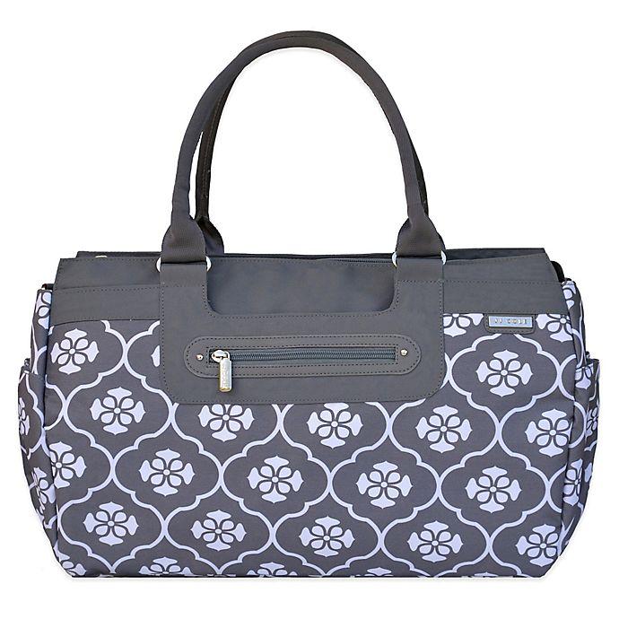 Alternate image 1 for JJ Cole® Parker Weekender Diaper Bag in Grey Floret