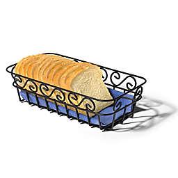 Spectrum™ Scroll Bread Basket in Black