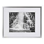 Real Simple® Silver Finish Wall Frame with White Double Mat for 14-Inch x 11-Inch Photo