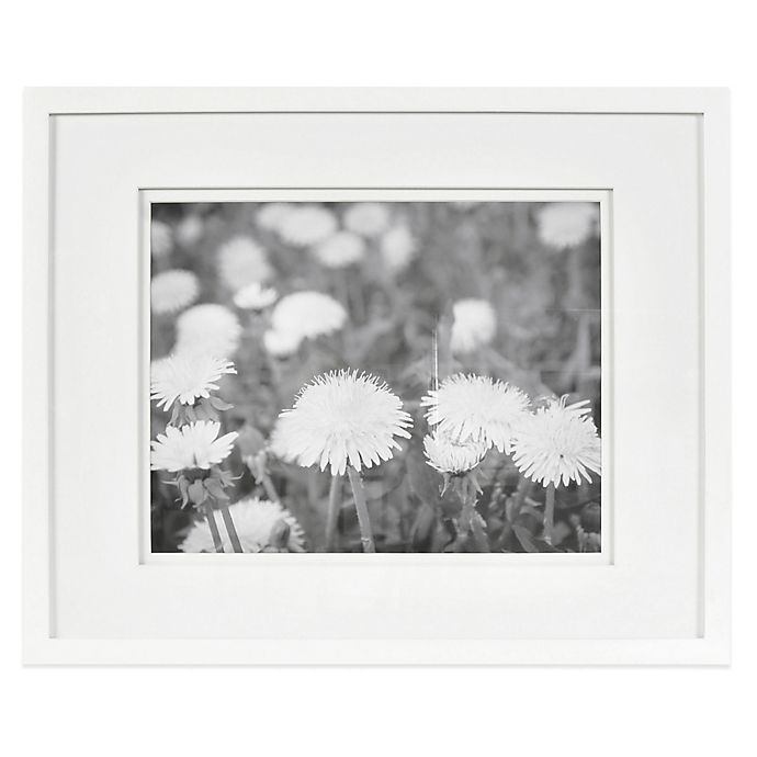 Buy Real Simple 174 White Wood Wall Frame With White Double