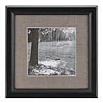 Real Simple® Deep Black Wood Wall Frame with Grey Mat for 8-Inch x 8-Inch Photo
