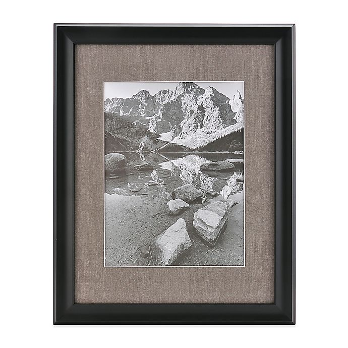 Alternate image 1 for Real Simple® Deep BlackWood  Wall Frame with Grey Mat for 10-Inch x 13-Inch Photo