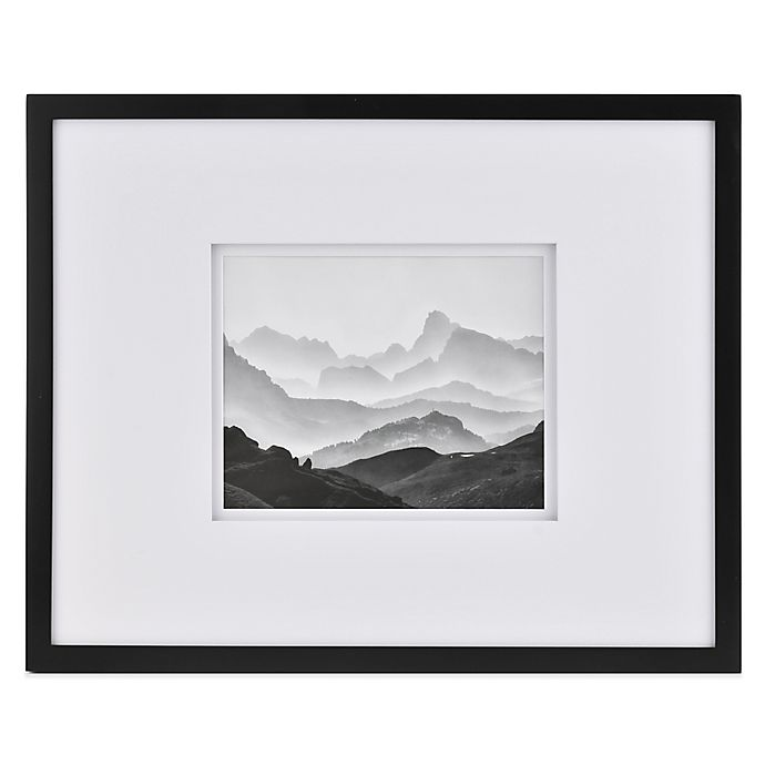 Buy Real Simple 174 Black Wood Wall Frame With White Double