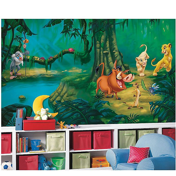 Alternate image 1 for Disney® Lion King Chair Rail Prepasted 10.5-Foot x 6-Foot Mural