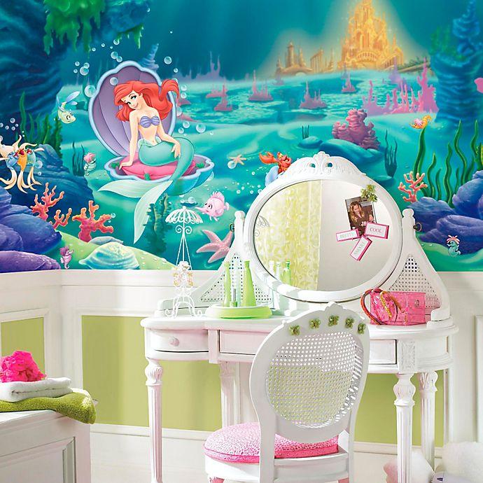 Alternate image 1 for Disney® Little Mermaid Chair Rail Prepasted 10.5-Foot x 6-Foot Mural