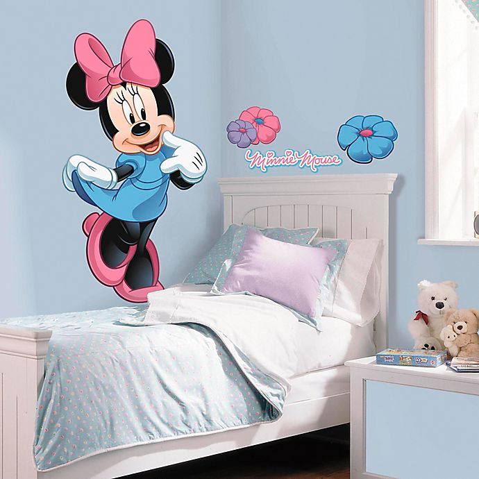 Alternate image 1 for Disney® Mickey and Friends Minnie Mouse Giant Peel and Stick Wall Decals