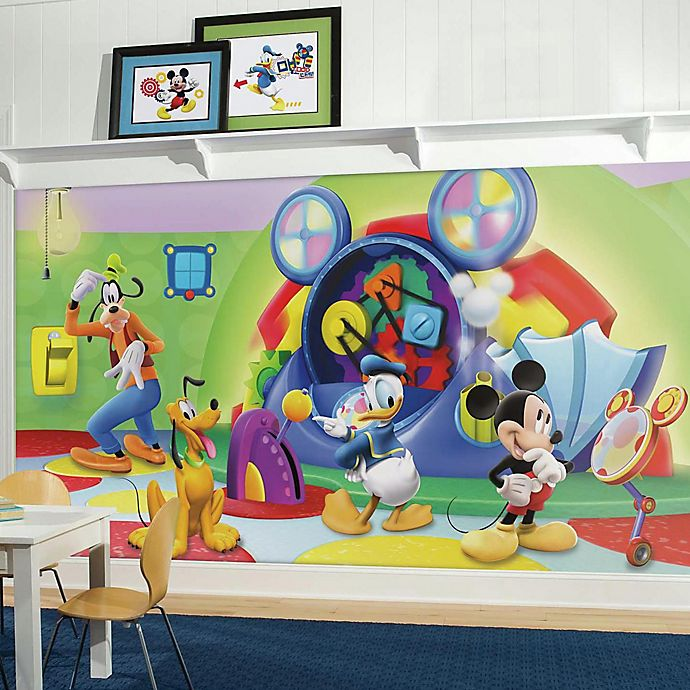 Alternate image 1 for Disney® Mickey Mouse Clubhouse Capers Chair Rail 10.5-Foot x 6-Foot Mural