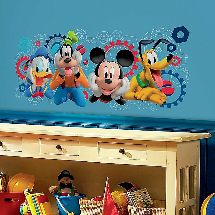 Alternate image 1 for Disney® Mickey Mouse Clubhouse Capers Giant Peel and Stick Wall Decal