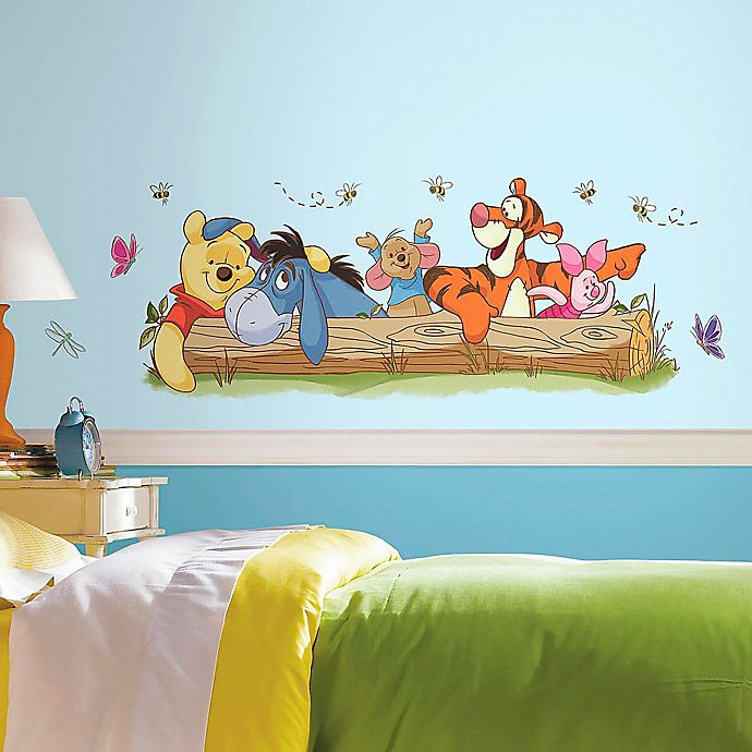 Alternate image 1 for Disney® Pooh and Friends Outdoor Fun Peel and Stick Wall Decals