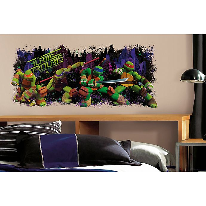 Alternate image 1 for Teenage Mutant Ninja Turtles Turtle Trouble Graphic Peel and Stick Wall Decal