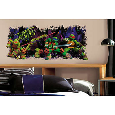 Teenage Mutant Ninja Turtles Turtle Trouble Graphic Peel and Stick Wall Decal