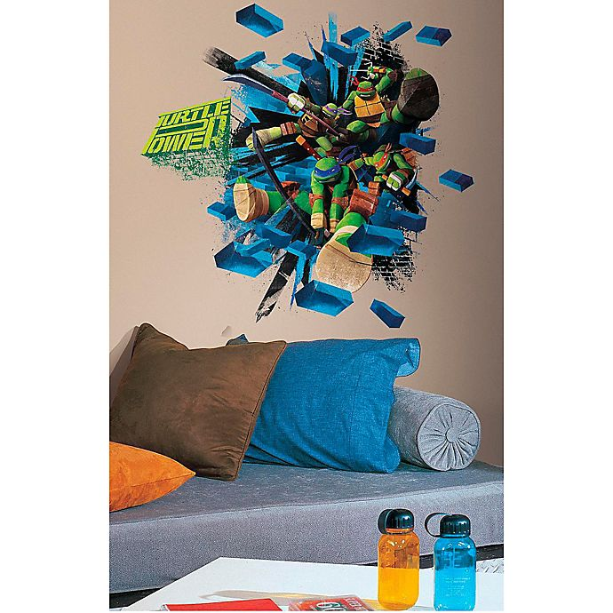 Alternate image 1 for Teenage Mutant Ninja Turtles Brick Poster Peel and Stick Wall Decals